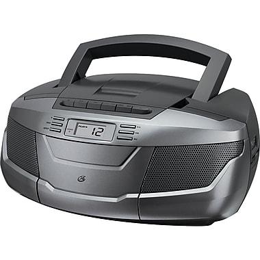 GPX BCA206S CD Boom Box with AM/FM Radio & Cassette Player