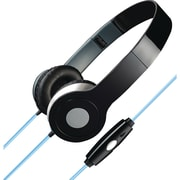 Ilive Iahl75b Stereo Designer Headphones With Microphone & Glowing Cable (black)