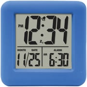 Equity By La Crosse 70905 Soft Cube LCD Alarm Clock, Blue