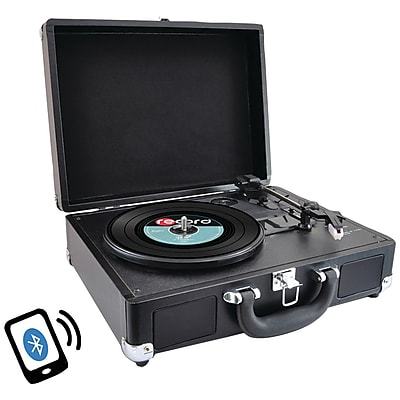 PYLE HOME PVTTBT6BK Bluetooth Classic Turntable with Vinyl to MP3 Recording 2396268