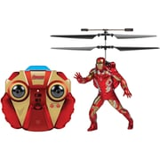 World Tech Toys 2-Channel Marvel IR Helicopter with Action Phrases And LED Lights, Iron Man (WTT34858)