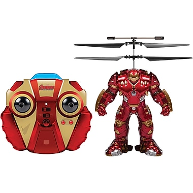 World Tech Toys 2-Channel Marvel IR Helicopter with Action Phrases And LED Lights, Hulkbuster (WTT34870)