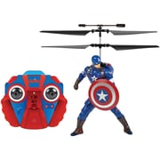 World Tech Toys 2-Channel Marvel IR Helicopter with Action Phrases, Captain America (WTT34871)