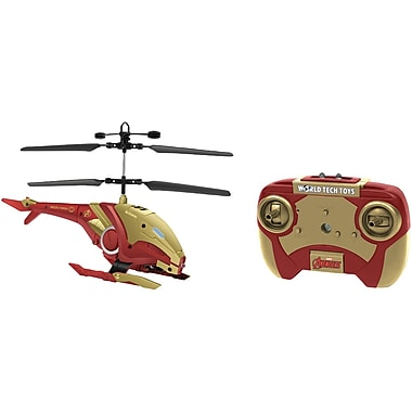 World Tech Toys 2-Channel Marvel IR Helicopter with LED Lights, Iron Man (WTT34890)