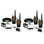 KIT Midland GXT1000VP4 36-mile Camo GMRS Radio 4 Pack With Drop-in Charger, Batteries & Headsets