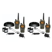KIT Midland GXT1050vp4 36-mi Camo GMRS Radio 4 Pk With Batteries & Drop-in Charger