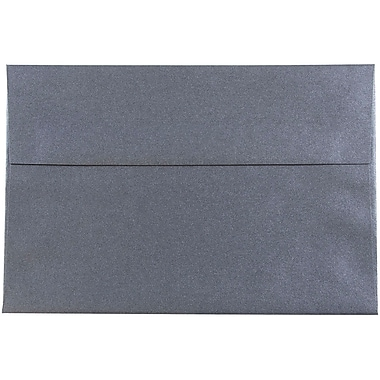 JAM Paper® A8 Invitation Envelopes, 5.5 x 8.125, Stardream Metallic Anthracite Black, 25/pack (9846)