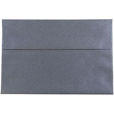 JAM Paper® A8 Invitation Envelopes, 5.5 x 8.125, Stardream Metallic Anthracite Black, 250/box (9846H)