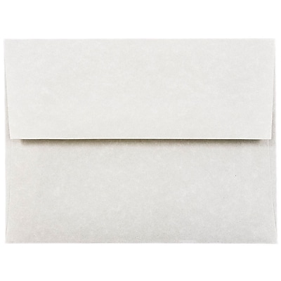 JAM Paper A2 Invitation Envelopes, 4 3/8 x 5 3/4, Parchment Pewter Grey Recycled, 1000/carton (34876B) 38111