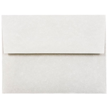 JAM Paper® A2 Invitation Envelopes, 4 3/8 x 5 3/4, Parchment Pewter Grey Recycled, 25/pack (34876)