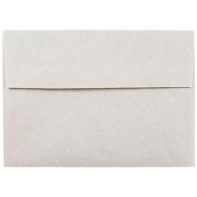 JAM Paper A7 Invitation Envelopes 525 x 725 Parchment Pewter