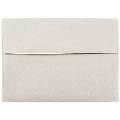 JAM Paper® A7 Invitation Envelopes, 5.25 x 7.25, Parchment Pewter Grey Recycled, 50/pack (35061I)