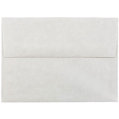 JAM Paper® A6 Invitation Envelopes, 4.75 x 6.5, Parchment Pewter Grey Recycled, 50/pack (35170I)