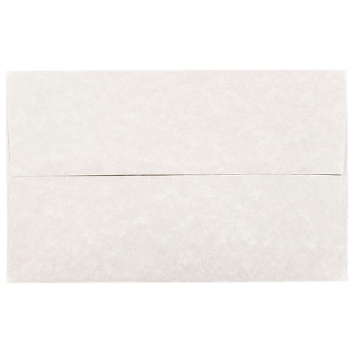JAM Paper® A10 Parchment Invitation Envelopes, 6 x 9.5, Pewter Grey Recycled, 50/Pack (57156I)