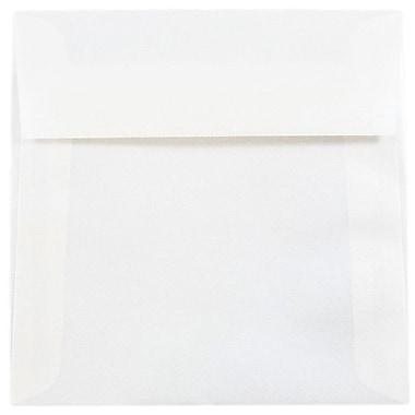 JAM Paper® 5.5 x 5.5 Square Envelopes, Platinum Translucent Vellum, 25/pack (59413)