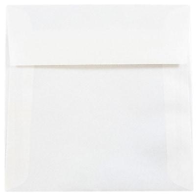 JAM Paper® 5.5 x 5.5 Square Envelopes, Platinum Translucent Vellum, 50/pack (59413I)