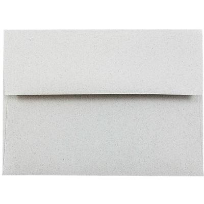JAM Paper® A6 Invitation Envelopes, 4.75 x 6.5, Granite Grey Recycled, 50/pack (71185I)