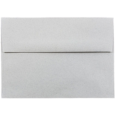 JAM Paper® A7 Invitation Envelopes, 5.25 x 7.25, Granite Grey Recycled, 50/pack (71813I)