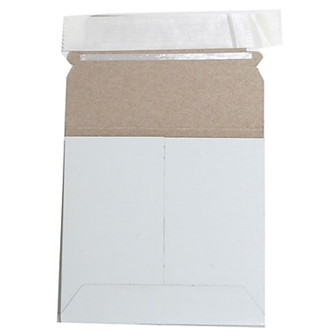 JAM Paper® Photo Mailer Stiff Envelopes with Self Adhesive Closure, 6 x 6 Square, White, 6/pack (73286B)