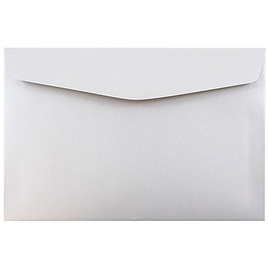 JAM Paper® 6 x 9 Booklet Envelopes, Stardream Metallic Silver Pearlized, 1000/carton (0183953B)