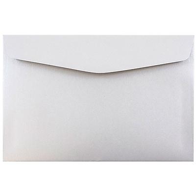 JAM Paper® 6 x 9 Booklet Envelopes, Stardream Metallic Silver Pearlized, 1000/carton (0183953B)