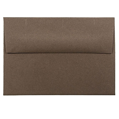 JAM Paper® 4bar A1 Envelopes, 3 5/8 x 5 1/8, Chocolate Brown Recycled, 25/pack (233708)