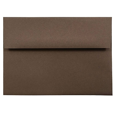 JAM Paper® A7 Invitation Envelopes, 5.25 x 7.25, Chocolate Brown Recycled, 50/pack (233711I)