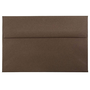 JAM Paper® A8 Invitation Envelopes, 5.5 x 8.125, Chocolate Brown Recycled, 25/pack (233712)