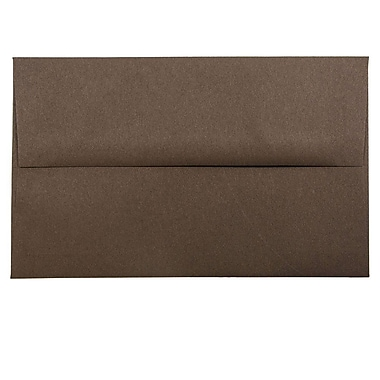 JAM Paper® A10 Invitation Envelopes, 6 x 9.5, Chocolate Brown Recycled, 25/pack (233713)