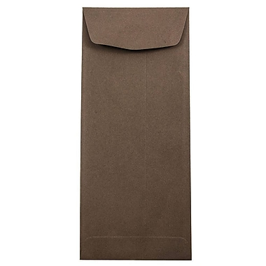 JAM Paper® #11 Policy Envelopes, 4 1/2 x 10 3/8, Chocolate Brown Recycled, 50/pack (233716I)