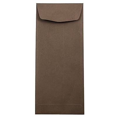 JAM Paper® #11 Policy Envelopes, 4 1/2 x 10 3/8, Chocolate Brown Recycled, 500/box (233716H)