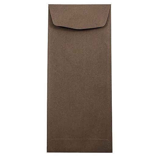 JAM Paper® #11 Policy Business Envelopes, 4.5 x 10.375, Chocolate Brown Recycled, Bulk 1000/Carton (233716B)
