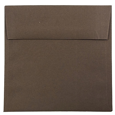 JAM Paper® 6 x 6 Square Envelopes, Chocolate Brown Recycled, 25/pack (234680)