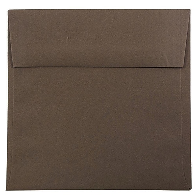 JAM Paper® 6 x 6 Square Envelopes, Chocolate Brown Recycled, 1000/carton (234680B)