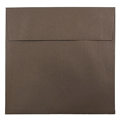 JAM Paper® 8.5 x 8.5 Square Envelopes, Chocolate Brown Recycled, 50/pack (234681I)