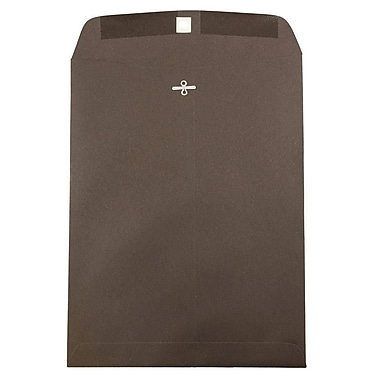 JAM Paper® 12 x 15.5 Open End Catalog Envelopes with Clasp Closure, Chocolate Brown Recycled, 100/pack (1284987)