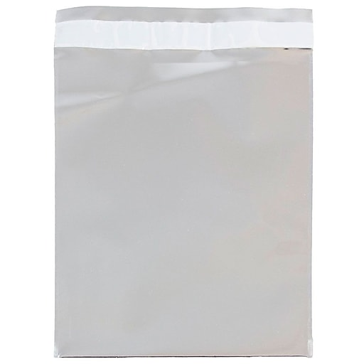 JAM Paper® 6.25 x 7.875 Open End Foil Envelopes with Self-Adhesive Closure, Silver, 25/Pack (1323303)