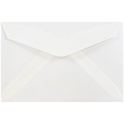 JAM Paper® 3drug Mini Small Envelopes, 2 5/16 x 3 5/8, Platinum Translucent Vellum, 100/pack (1591564A)