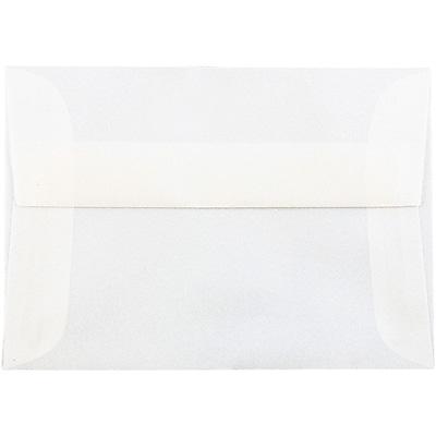 JAM Paper® 4bar A1 Envelopes, 3 5/8 x 5 1/8, Translucent Vellum Platinum, 50/pack (1591590I)