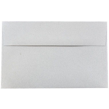 JAM Paper® A10 Invitation Envelopes, 6 x 9.5, Granite Grey Recycled, 25/pack (2831490)