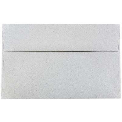 JAM Paper® A10 Invitation Envelopes, 6 x 9.5, Granite Grey Recycled, 250/box (2831490H)