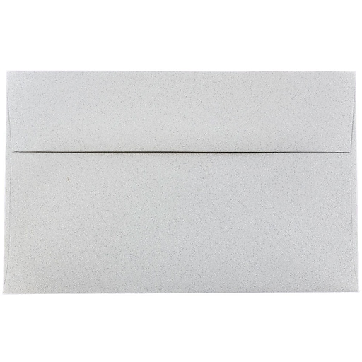 JAM Paper® A10 Passport Invitation Envelopes, 6 x 9.5, Granite Silver Recycled, 50/Pack (2831490I)