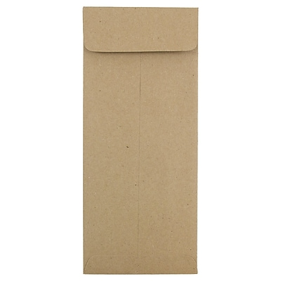 JAM Paper® #10 Policy Envelopes, 4 1/8 x 9 1/2, Brown Kraft Paper Bag Recycled, 500/box (3965615H)