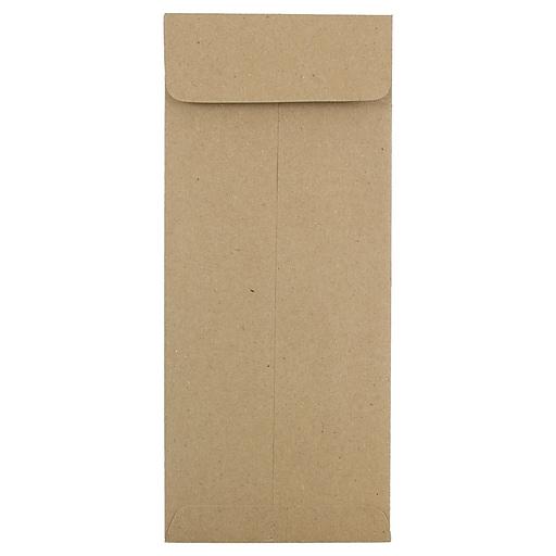 JAM Paper® #10 Policy Business Envelopes, 4.125 x 9.5, Brown Kraft Paper Bag, Bulk 500/Box (3965615H)