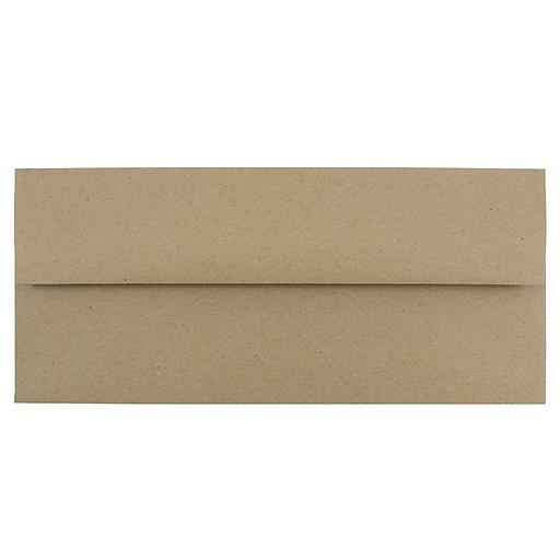 JAM Paper® #10 Business Envelopes, 4.125 x 9.5, Brown Kraft Paper Bag, 100/Pack (6314842B)