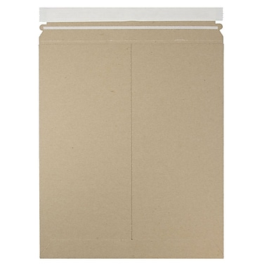 JAM Paper® Photo Mailer Stiff Envelopes with Self Adhesive Closure, 11 x 13.5, Brown Kraft Recycled, 12/Pack