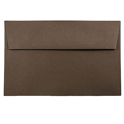 JAM Paper® A9 Invitation Envelopes, 5.75 x 8.75, Chocolate Brown Recycled, 250/box (32311328H)