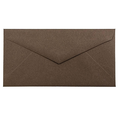 JAM Paper® Monarch Envelopes, 3 7/8 x 7 1/2, Chocolate Brown Recycled, 1000/carton (34097602B)