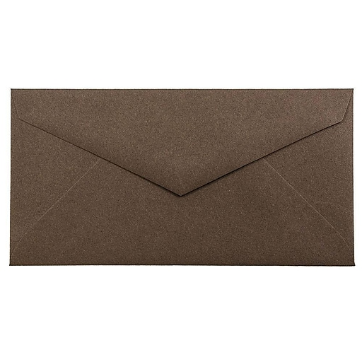 JAM Paper® Monarch Envelopes, 3.875 x 7.5, Chocolate Brown Recycled, 25/Pack (34097602)