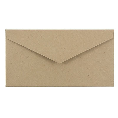 JAM Paper® Monarch Envelopes, 3 7/8 x 7 1/2, Brown Kraft Paper Bag Recycled, 50/pack (36317567I)